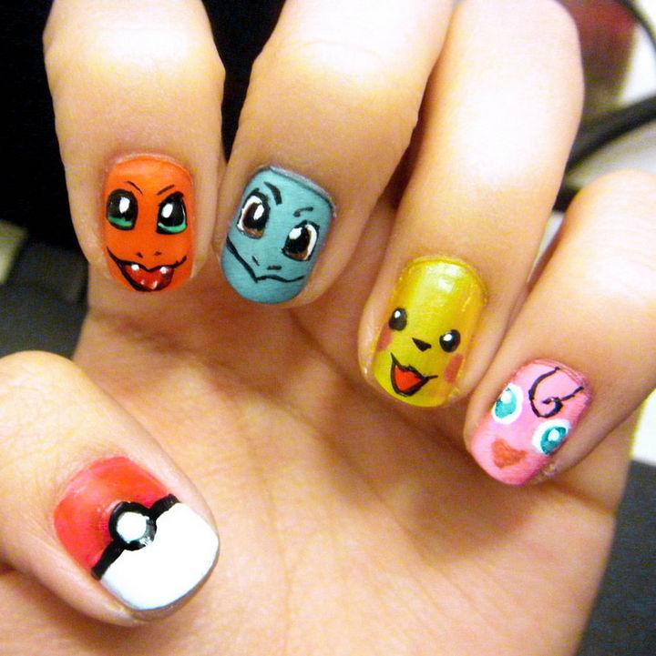 Catch 'em all with these Pokémon nails.