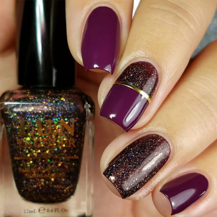 17 Winter Nails - Cute winter nails that shimmer and shine.