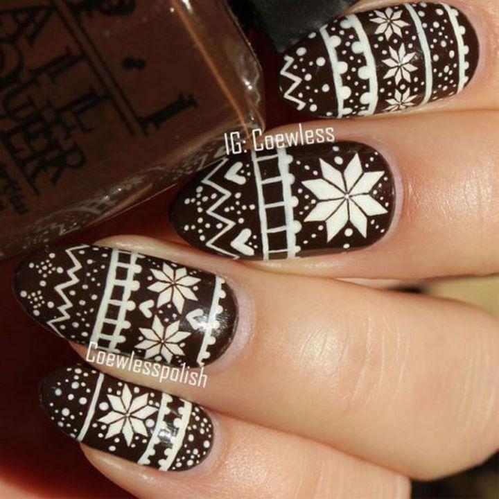 Creative sweater nail art design.