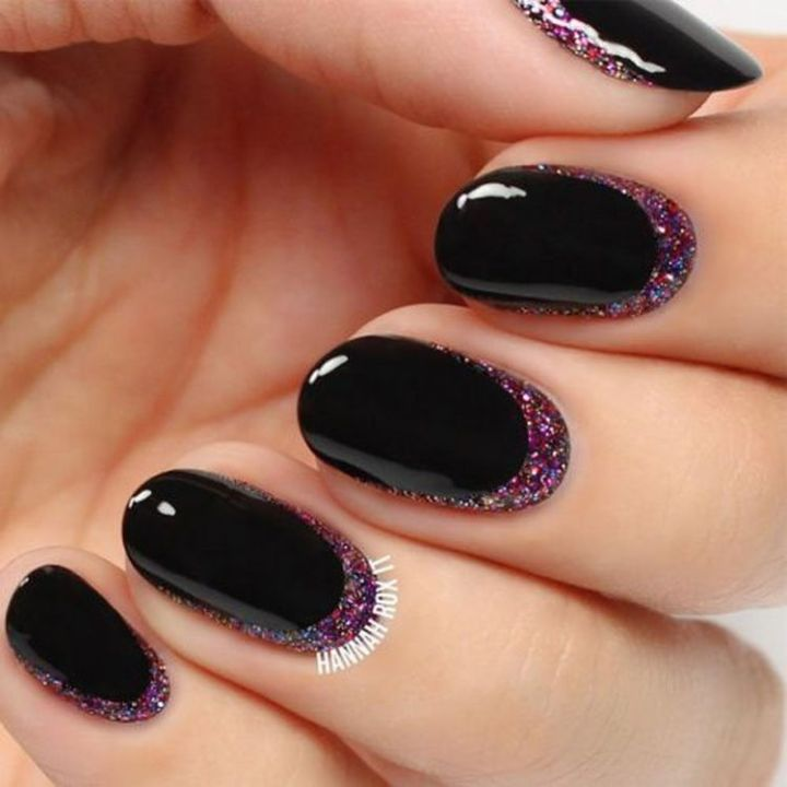 Easy glitter cuticle nails that are rockin' it!