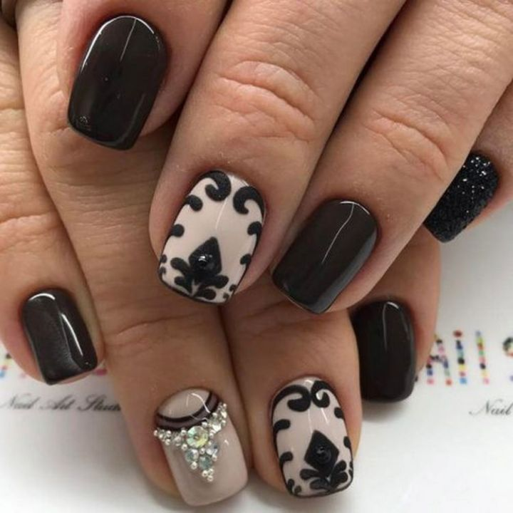 Black nails are always a classic look for winter.