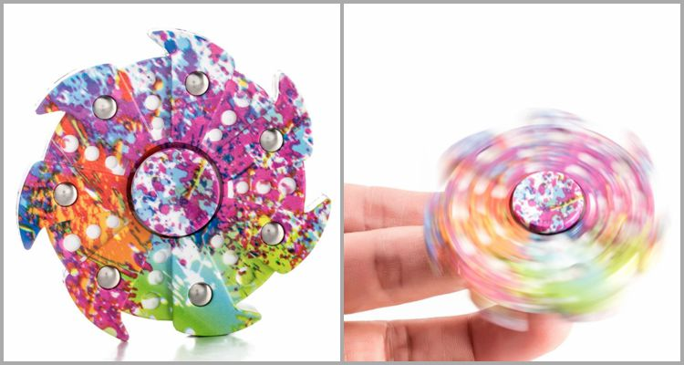25 Best Fidget Spinners - DSSY Heptagon Multicolor Fidget Hand Spinner.