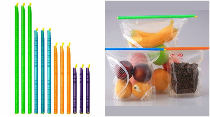 Plastic Bag Sealer Clips Sticks.
