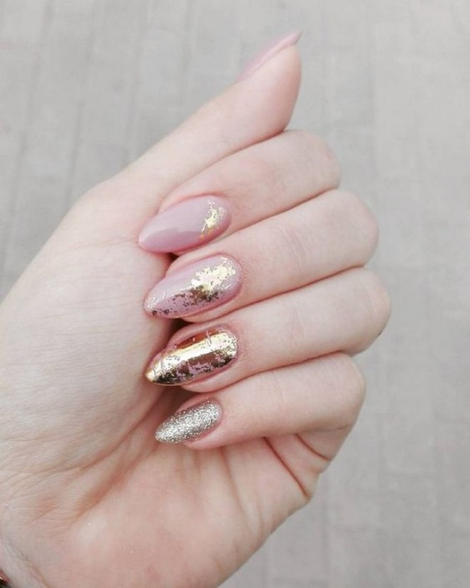 17 Chrome Nails - Using mirror foil for creative nail art designs.