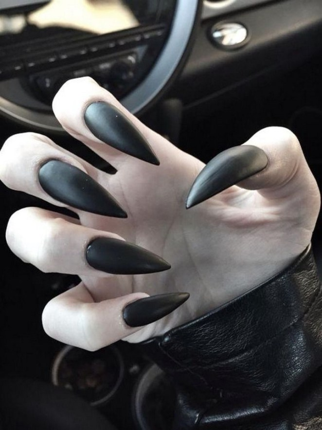 17 Chrome Nails - Make a statement with these intense stiletto nails.