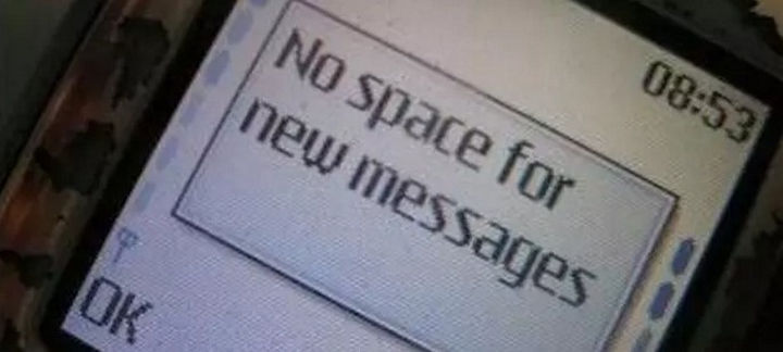 When phonesonly had megabytes instead of gigabytes of memory and you had to decide which messages to delete.
