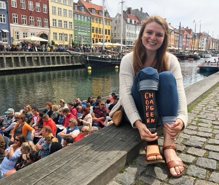 Enjoying the17th- & 18th-century architecture at Nyhavn inCopenhagen, Denmark.