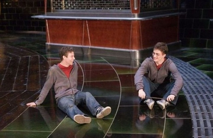 19 Famous Actors and Their Stunt Doubles - Daniel Radcliffe.