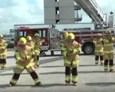 Firefighters Perform 'Stayin' Alive' Flash Mob and Educates About CPR!