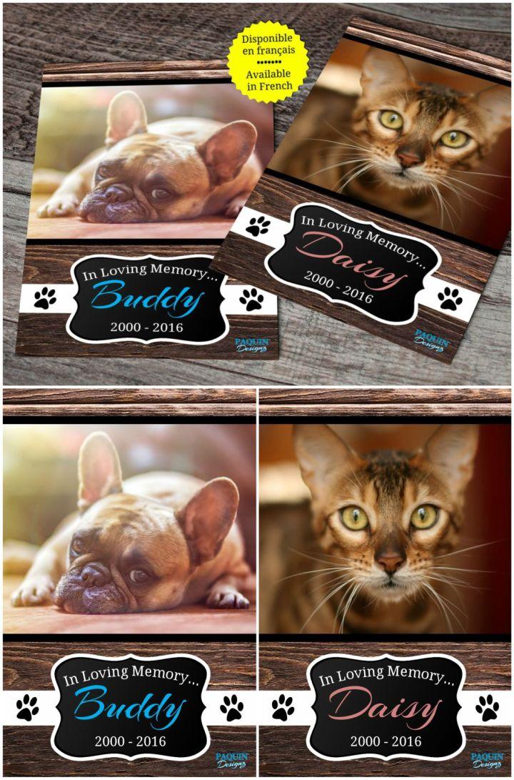 9 Pet Memorial Gifts - Pet memorial service and pet memorial cards.