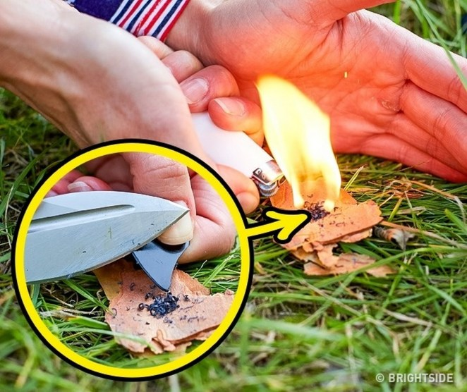 11 Wilderness Survival Tips - Scrape plastic from a guitar pick to help start a fire quickly.