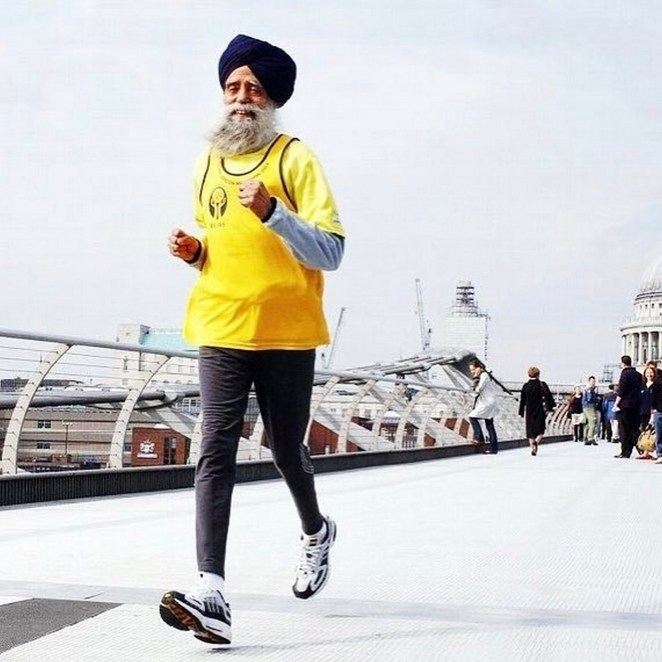 100-year-old Fauja Singh finished Toronto's waterfront marathon in8hours, 25minutes, and 18seconds, making him the oldest marathon runner tocomplete a run of that distance.