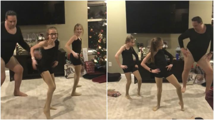 Dad Dons Leotard and Dances with His Daughters to Beyonce's 'Single Ladies'.