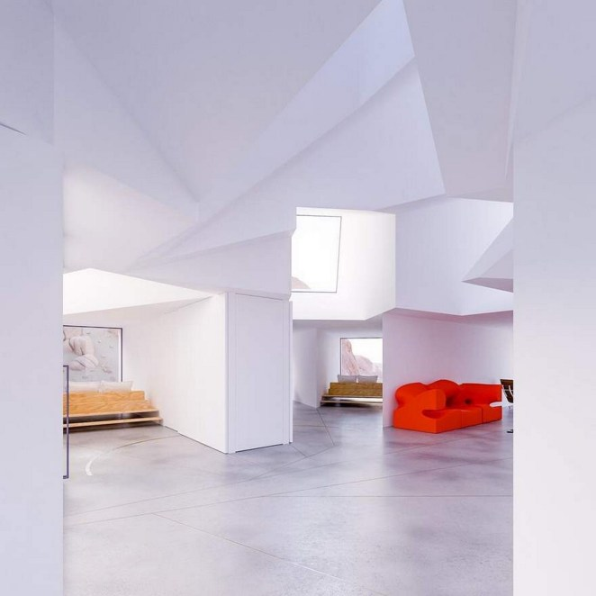 The interior features clean lines and a contemporary design.