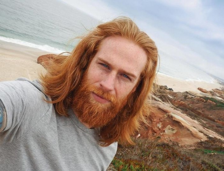 He now gets to travel the world and share his ginger good looks with the world.