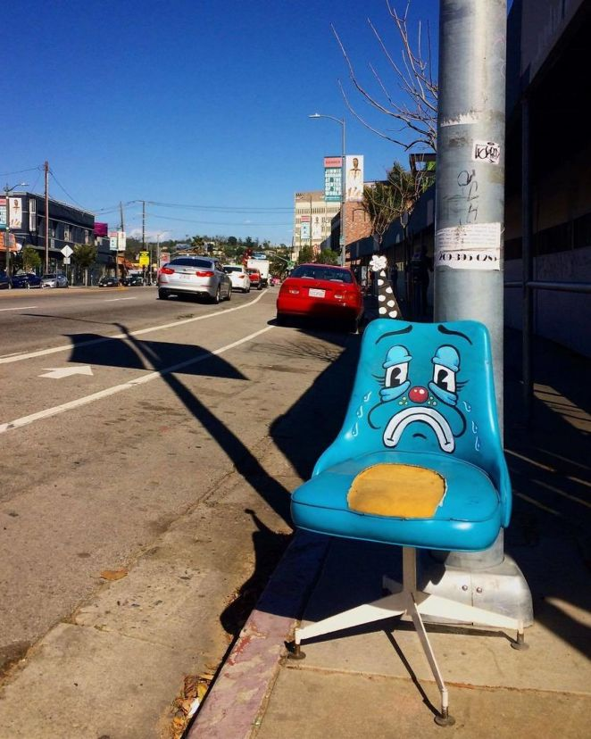 Sad blue chair.