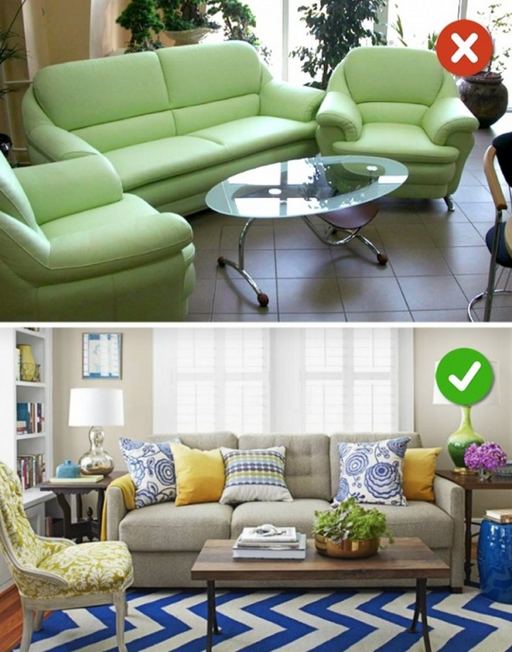 15 Living Room Design Mistakes - Furniture does go out of style.