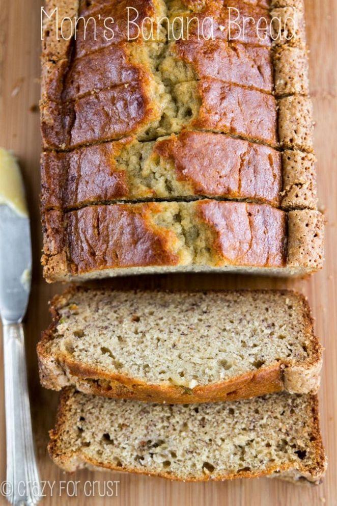 15 Easy Banana Bread Recipes - Mom's Banana Bread.