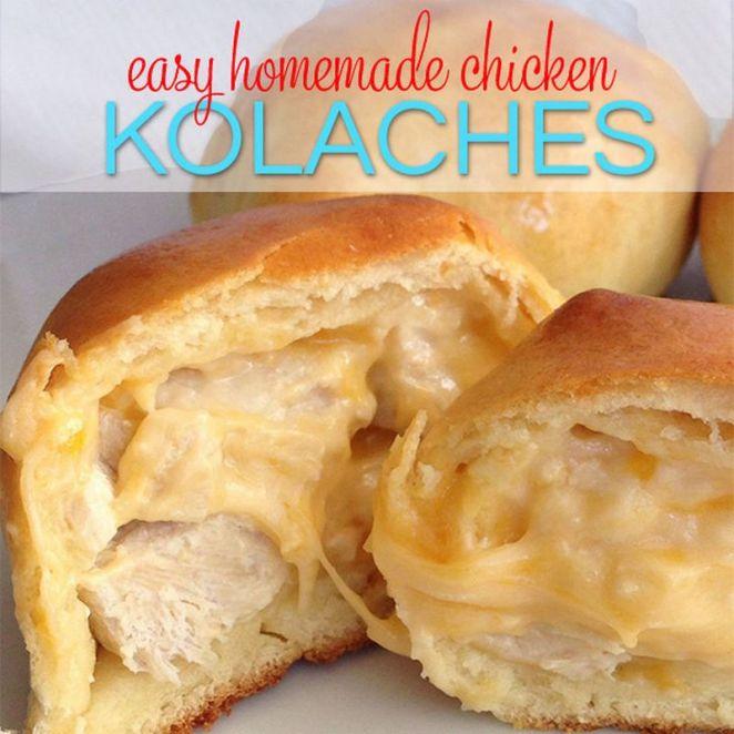 19 Chicken Recipes You Will Love - Easy Homemade Chicken Kolaches.
