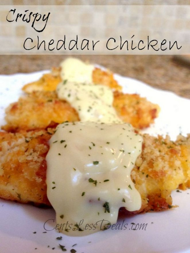 19 Chicken Recipes You Will Love - Crispy Cheddar Chicken.