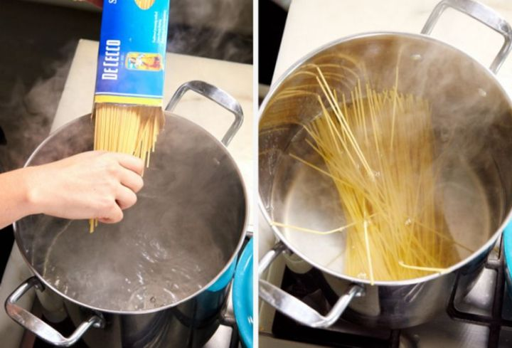 Common mistakes in the kitchen - Not adding salt to your water when boiling pasta.