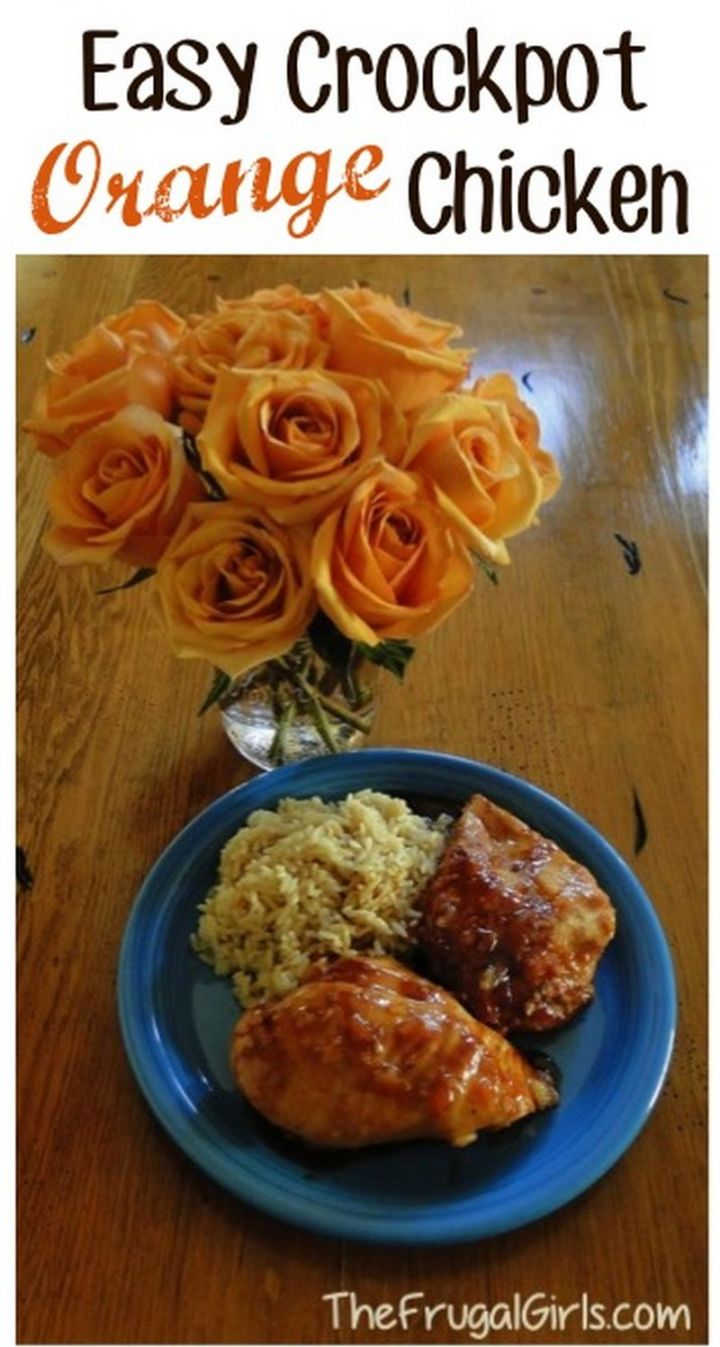 13 Crock-Pot Recipes - Crockpot Orange Chicken