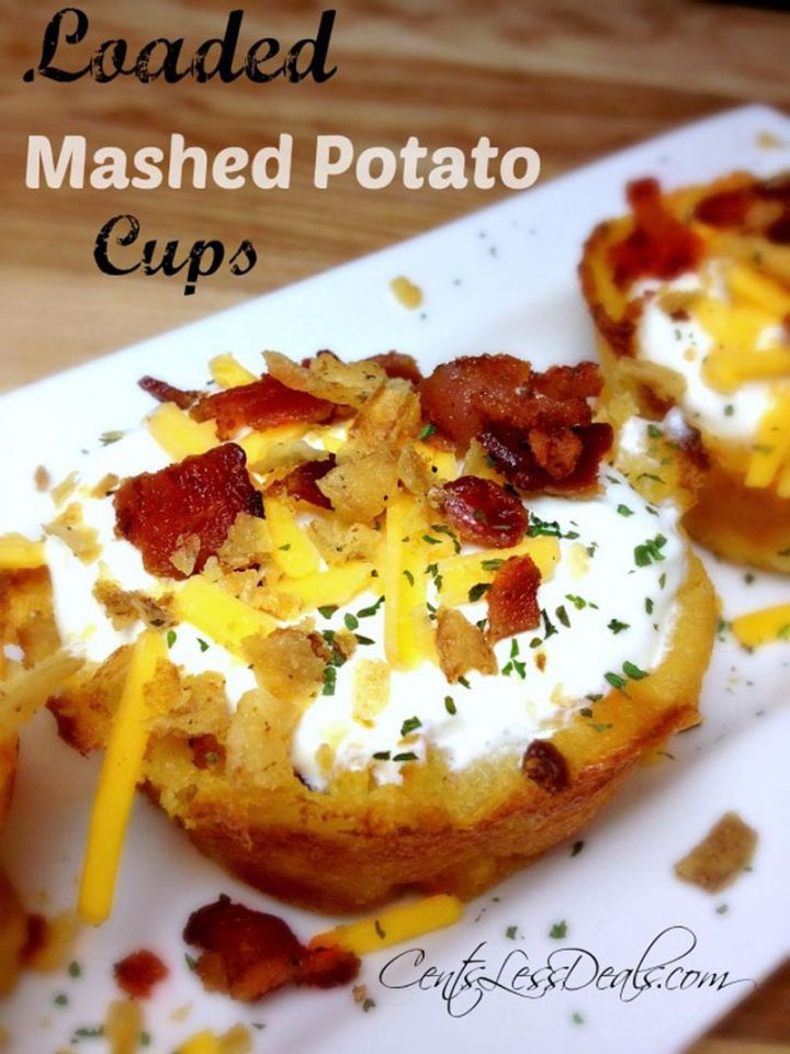 29 Best Potato Recipes - Loaded Mashed Potato Cups.