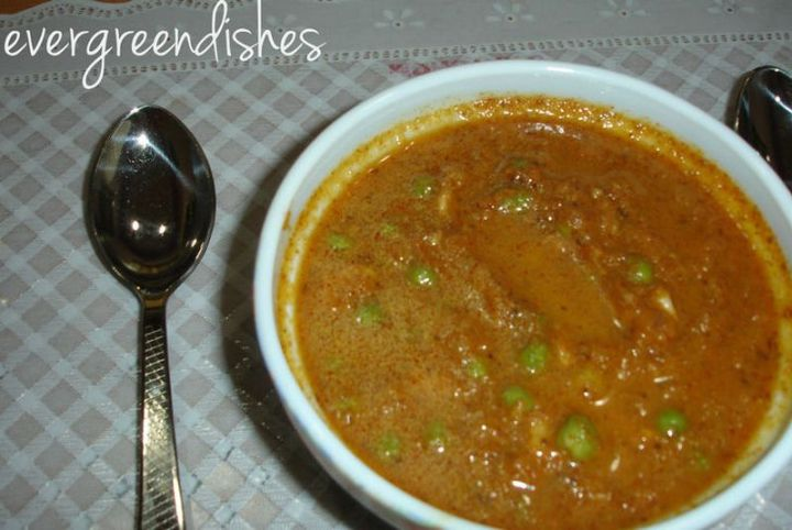 49 Indian Side Dishes - Green Peas Masala.