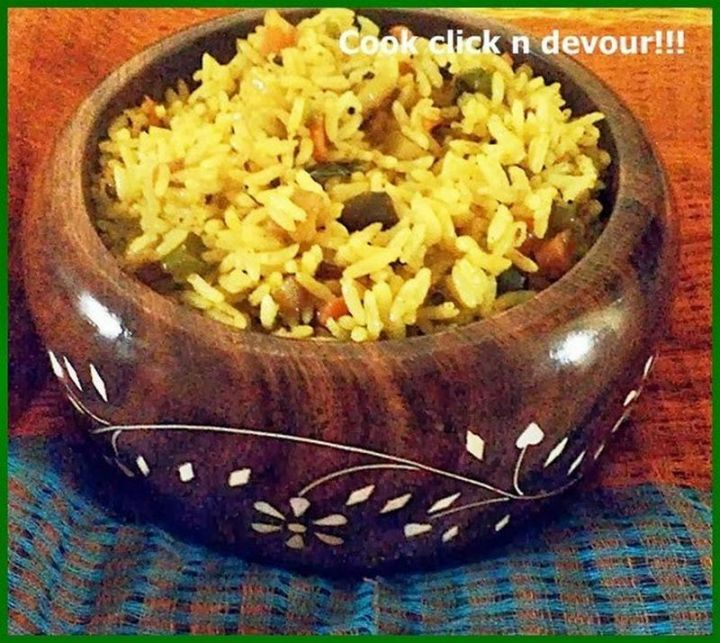 49 Indian Side Dishes - Mixed Vegetable Rice.