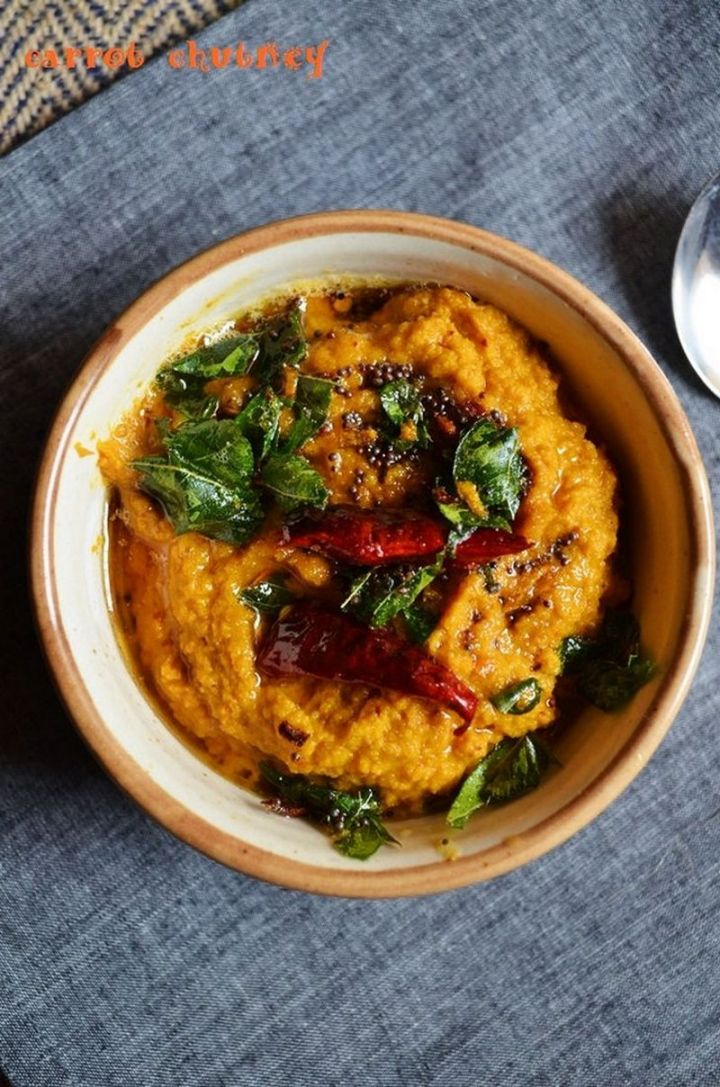 49 Indian Side Dishes - Carrot Chutney.