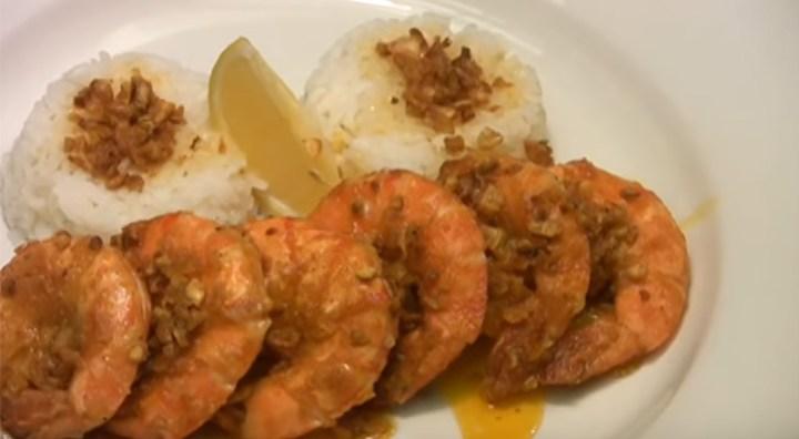 Hawaiian Garlic Shrimp Scampi Recipe by Chef Jason Hill.