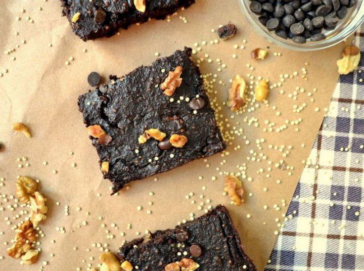 7 easy brownie recipes - Vegan Chocolate Quinoa Brownies.