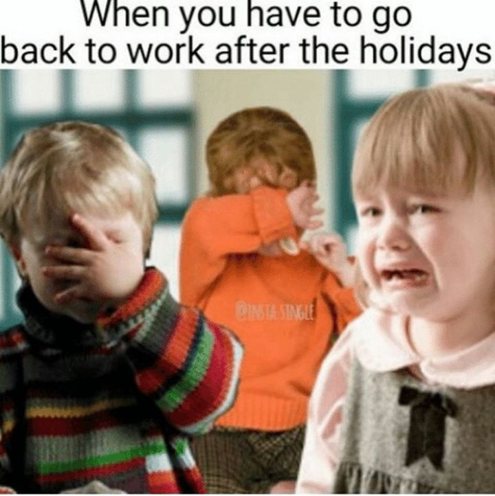 """21 Back to Work Memes - """"When you have to go back to work after the holidays."""""""