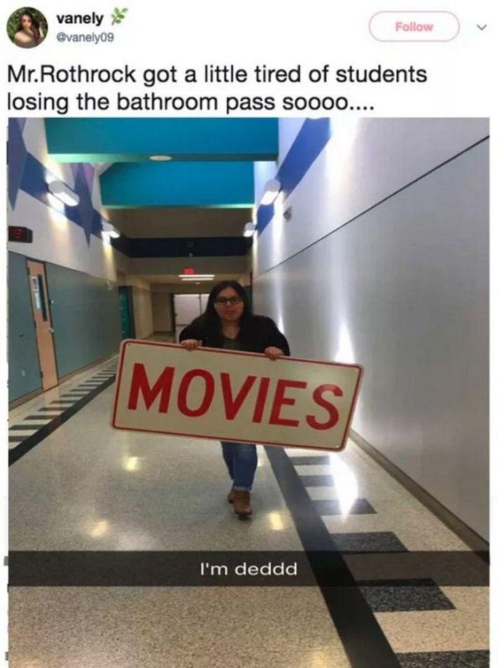 53 Funny Hall Passes -