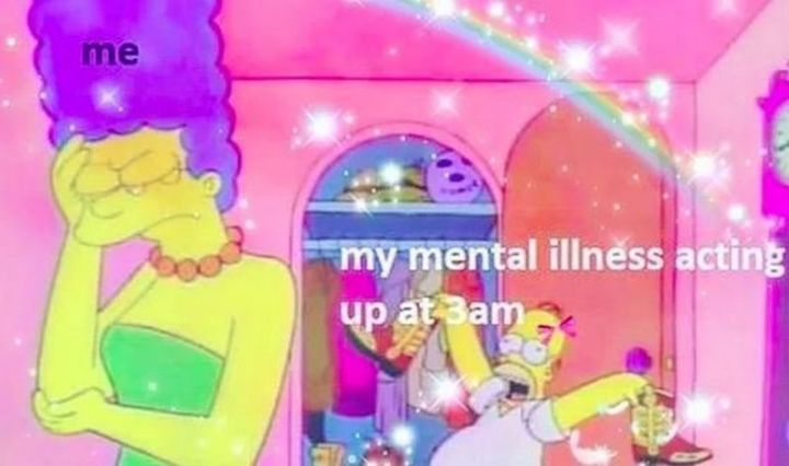 "61 Depression Memes - ""Me. My mental illness acting up at 3 am."""