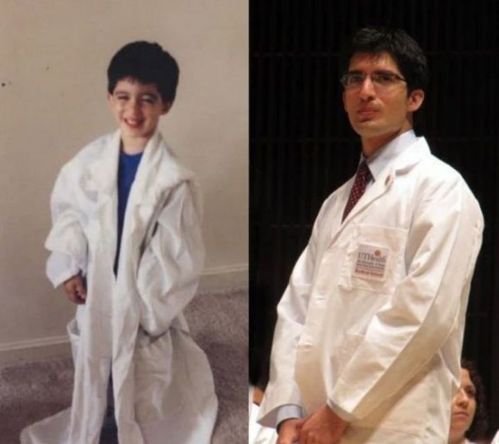 """35 Then and now pictures - """"Then and now pictures of my brother at age 4 and age 24."""""""
