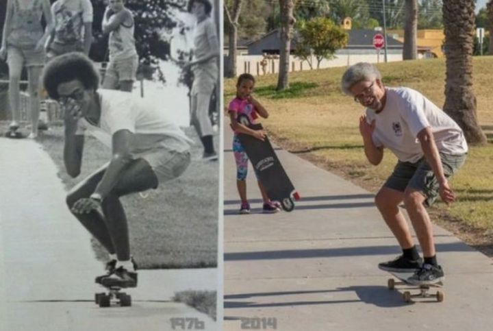 """35 Then and now pictures - """"Still skating 38 years later."""""""