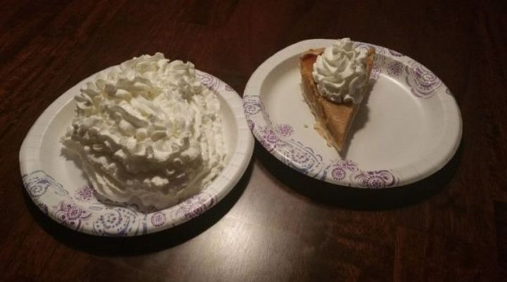 Two Types of People - Two types of pie eaters.