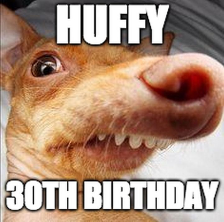"101 Happy 30th Birthday Memes - ""Huffy 30th birthday."""