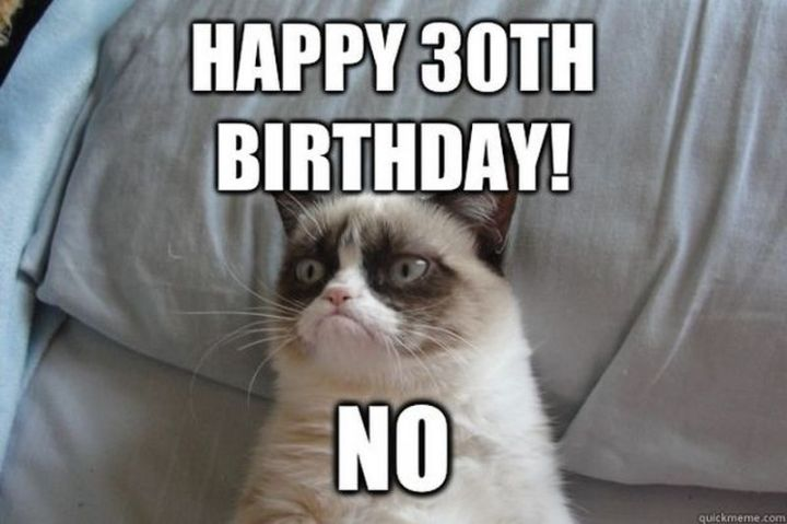 "101 Happy 30th Birthday Memes - ""Happy 30th birthday! No."""