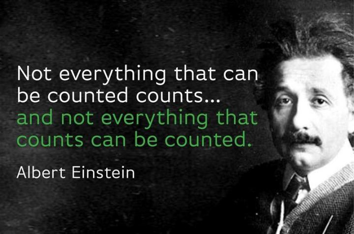 """59 Positive Memes - """"Not everything that can be counted counts...and not everything that counts can be counted."""" - Albert Einstein"""