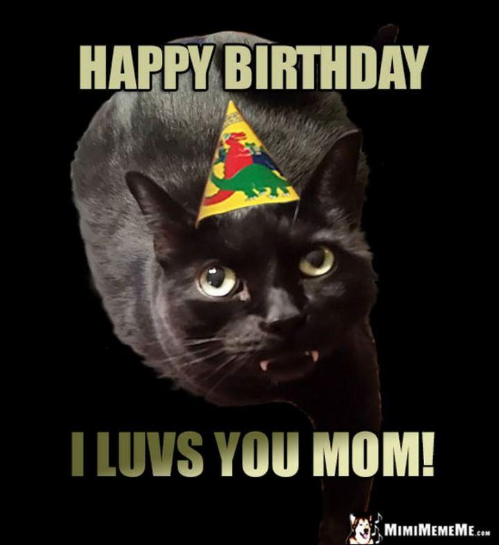"""101 Happy Birthday Mom Memes - """"Happy birthday. I luvs you mom!"""""""