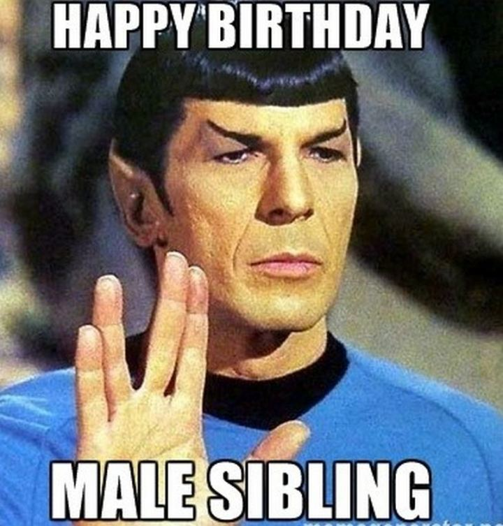 "71 Happy Birthday Brother Memes - ""Happy birthday male sibling."""