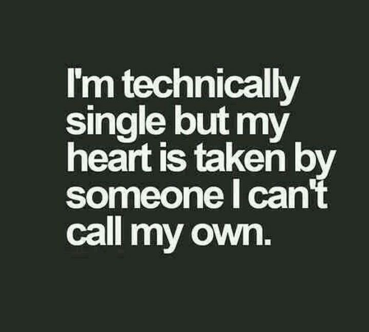 "67 Funny Single Memes - ""I'm technically single but my heart is taken by someone I can't call my own."""