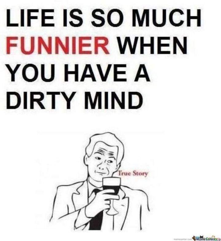 """71 Funny Dirty Memes - """"Life is so much funnier when you have a dirty mind. True story."""""""