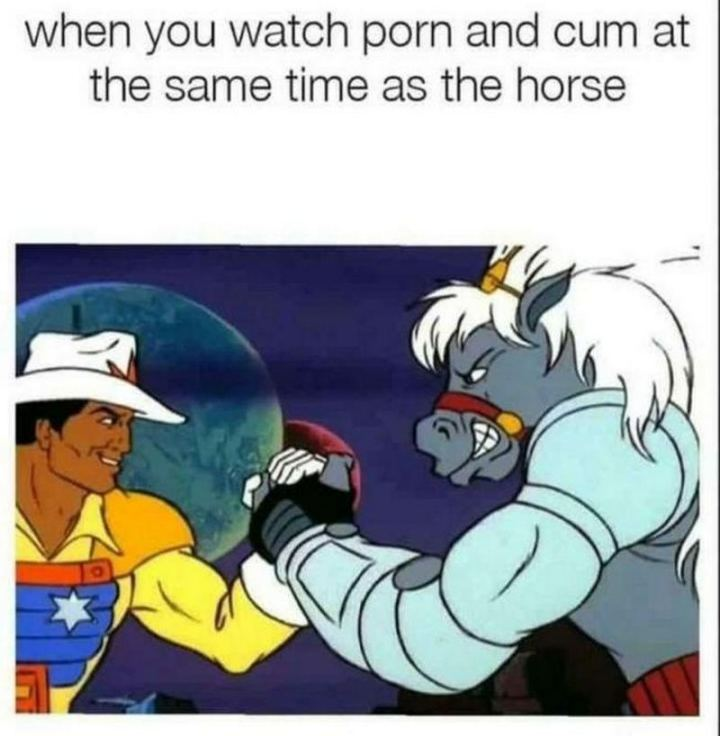 """71 Funny Dirty Memes - """"When you watch [censored] and [censored] at the same time as the horse."""""""