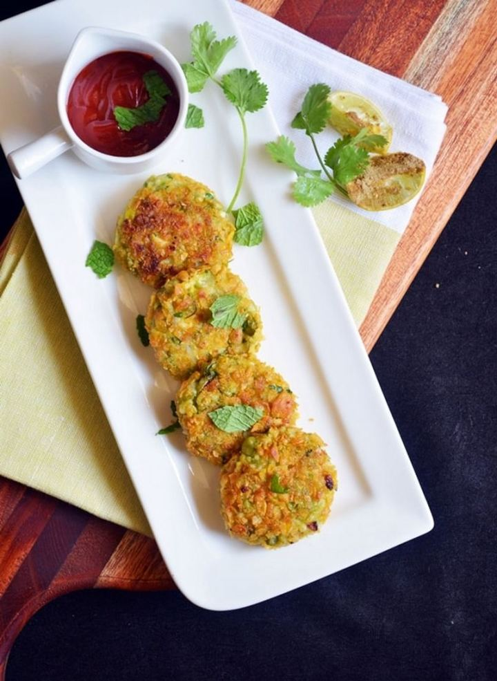 35 Indian Appetizer Recipes - Peas Paneer Cutlet.