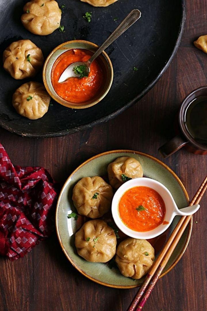 35 Indian Appetizer Recipes - Veg Momos.