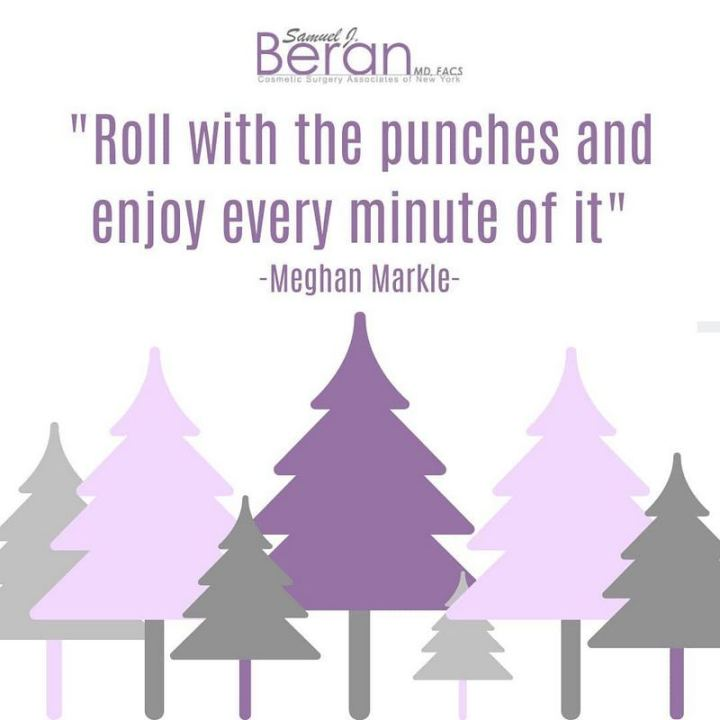 "53 Happy Quotes - ""Roll with the punches and enjoy every minute of it."" - Meghan Markle​"