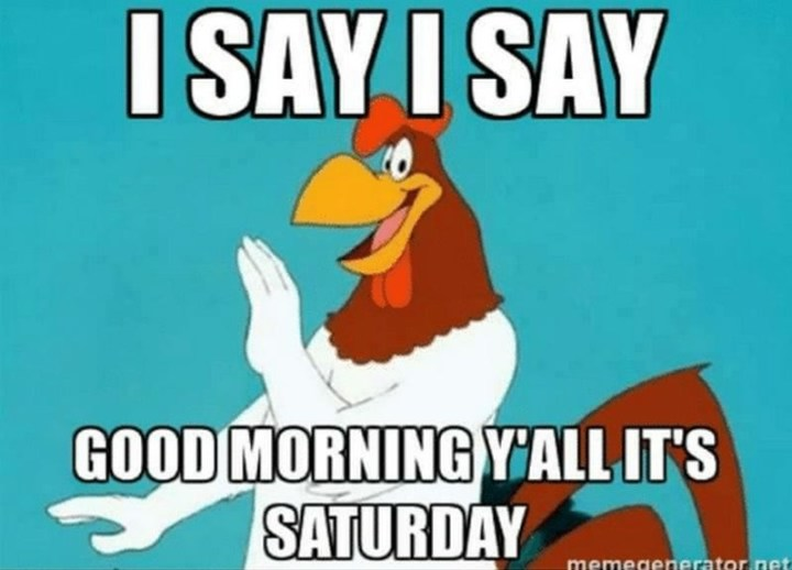 "101 Saturday Memes - ""I say, I say, good morning y'all it's Saturday."""